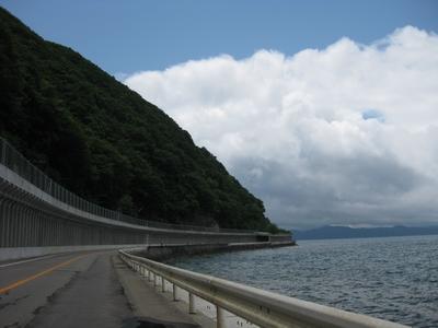 猪苗代湖東岸