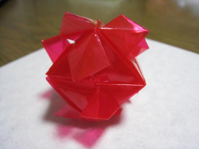 すべての折り紙 折り紙専門店 : 透明折り紙で折ってみました ...