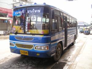 バーンヤイ行きのバス