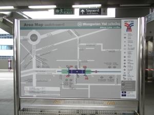 地図でウォンウィエンヤイまでの道を確認