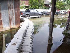 洪水対策の土嚢