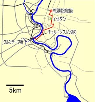 戦勝記念塔~クルンテープ橋