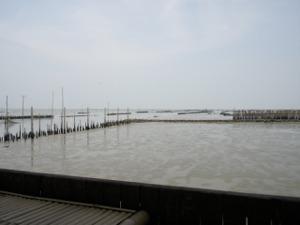 席からのバンコク海の眺望