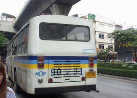 サパーンクワーイ駅に到着した90番バス