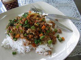 ラビアン・ダーオのバジル炒めご飯