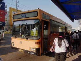 パンティップに到着した522盤バス