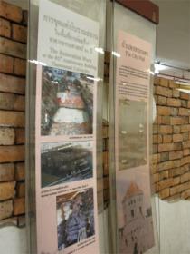 タマサート大学構内の首都城壁発掘写真