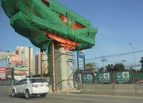 高架鉄道紫線の建設工事