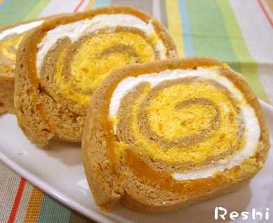 黒糖かぼちゃのロールケーキ