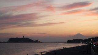 七里ガ浜~江ノ島と富士山