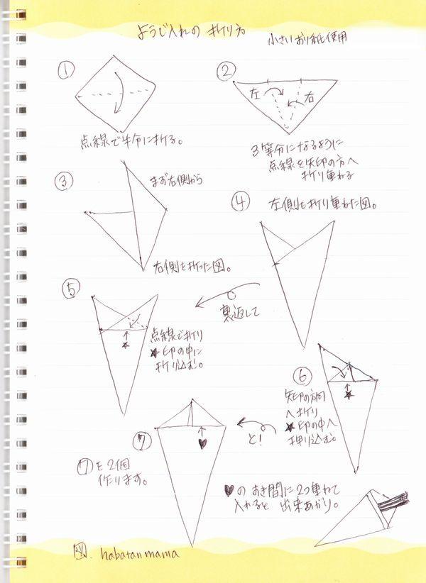すべての折り紙 箸入れ 作り方 折り紙 : 折り紙で楊枝入れの折り方(図 ...