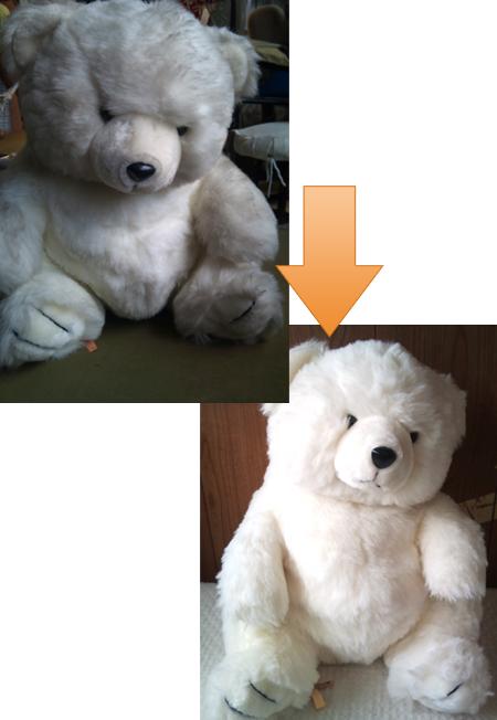 白クマのぬいぐるみ011