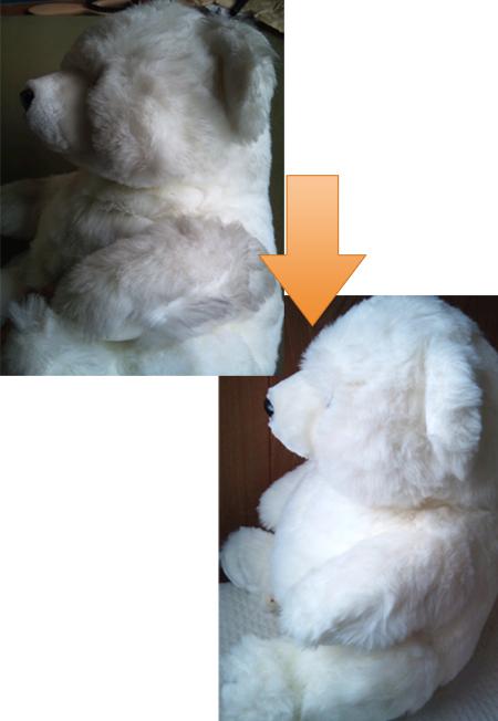 白熊ぬいぐるみクリーニング