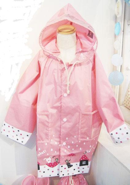 子供用レインコート,通販 あと、普通サイズの子供用レインコート フランチェスカは 巾着袋入りなと