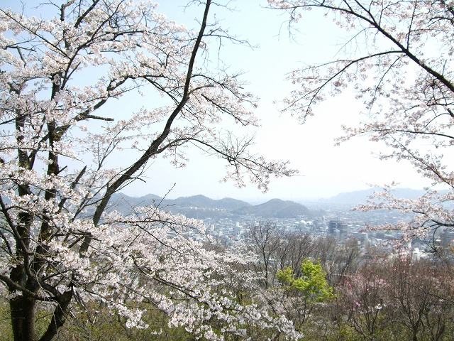 水道山から桐生の山々