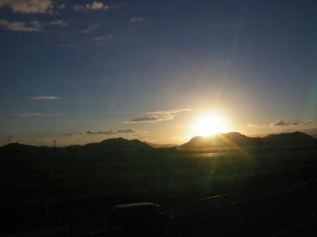 ☆旅立つ日の夕日☆