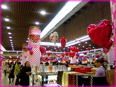2010バレチョコ売り場