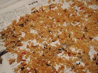 自家製アルファ米(炊き込みご飯)