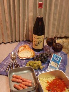 パスタとワインで幸せ〜♪