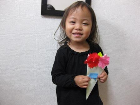 折り紙のカーネーション花束