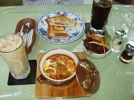 然林庵で食事とお茶