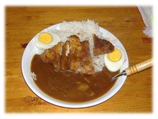 ゆで卵カレー1