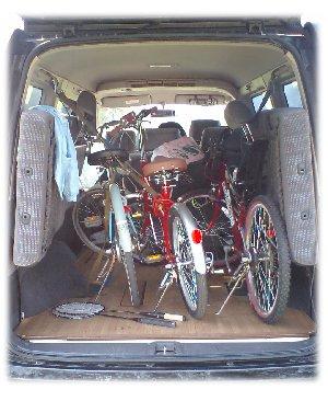 ステップワゴンに自転車
