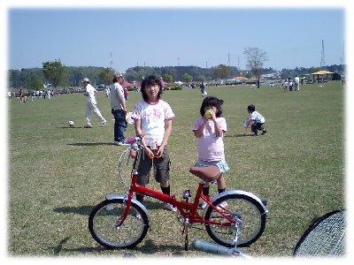 買ったばかりの自転車と一緒に ...