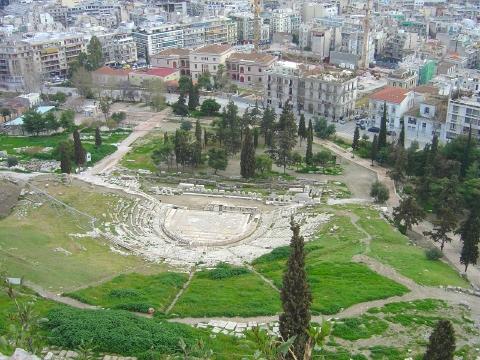 アクロポリスにあるディオニソス劇場