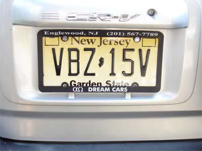 車 の ナンバー 英語