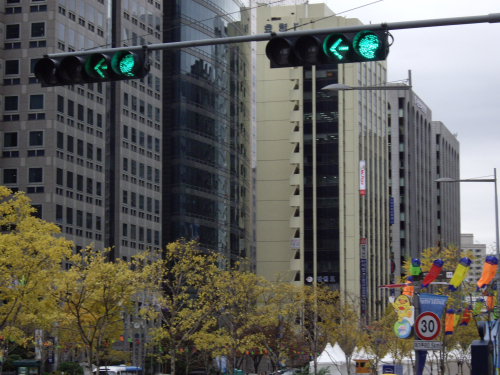 韓国の信号機