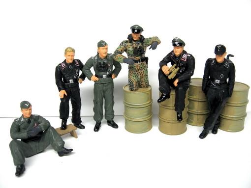 ドイツ戦車兵小休止セット(ミリタリーミニチュアシリーズ) プラモデルの戦士たち~the Realistic