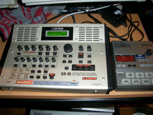 GS-10&ドラムマシーン。