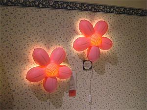 お花の照明