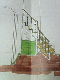 階段下の電話