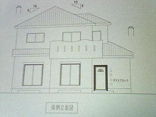 南側立面図(寄棟?)