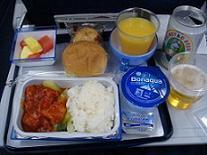 香港研修旅行 2010年12月 エコノミー機内食.JPG