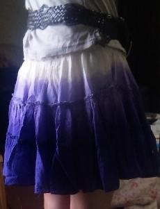 グラデーションスカート後ろ姿1