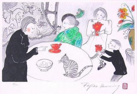 フジ子・ヘミング『柿色のTeeセット』