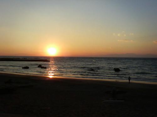 一色海岸・夕日