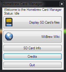Homebrew Card Manager