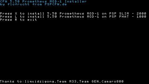 CFW 5.50 Prometheus MOD-1