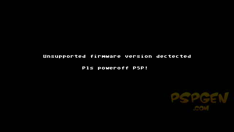Unsupprted firmware