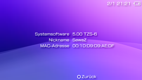 Custom Firmware 5.00 TZS-6