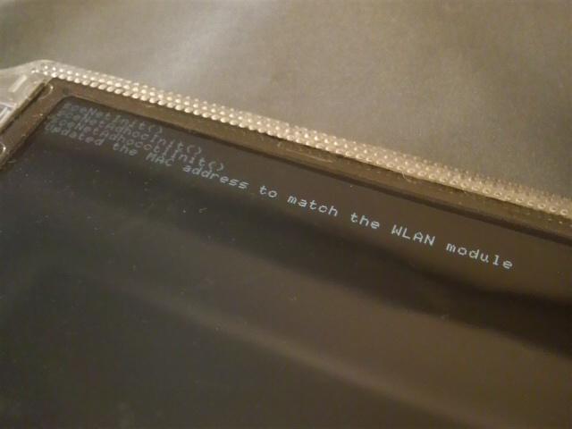 WLAN基板にあわせて修正された