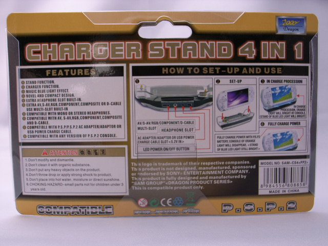 CHARGER STAND 4in1 for PSP-2000_2