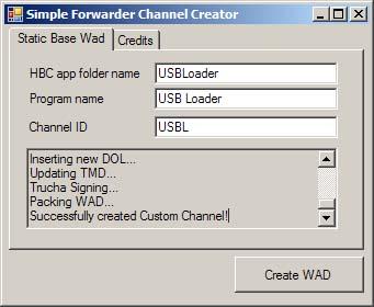 Simple Forwarder Channel Creator