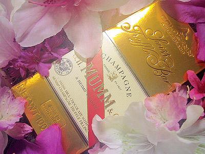ゴールド・シャンパン・チョコレート