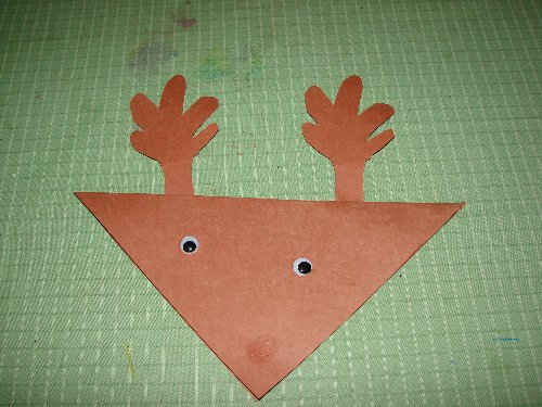 Simple Christmas Craft For Preschoolers : Easy reindeer christmas card craft for preschool