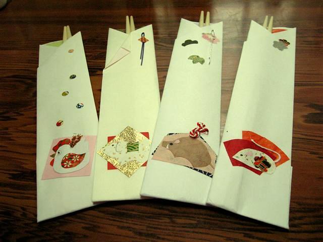 すべての折り紙 箸入れ 作り方 折り紙 : それまでは、お箸袋と和紙の色 ...